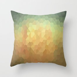 Nature's Glowing Geometric Abstract Throw Pillow