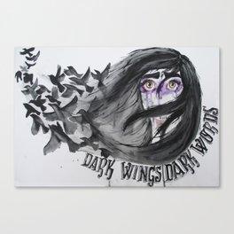 Dark Wings, Dark Words Canvas Print