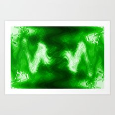 green color abstract Art Print