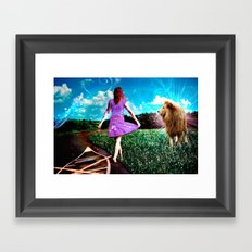 Rivers, Fields & Lions Framed Art Print