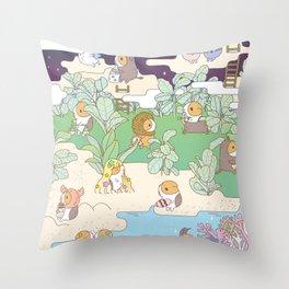 Bubu Horoscope Land Throw Pillow
