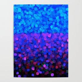 Sparkles Glitter Blue Poster
