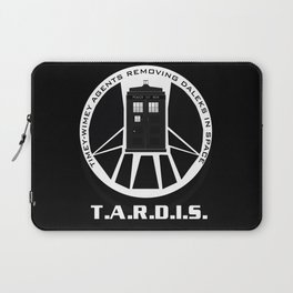 Agents of TARDIS black and white Agents of Shield, Doctor Who mash up Laptop Sleeve