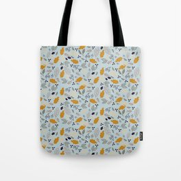 Hand drawn leaves Autumn background Tote Bag