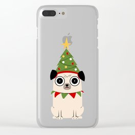 It's Christmas for Pug's Sake Clear iPhone Case