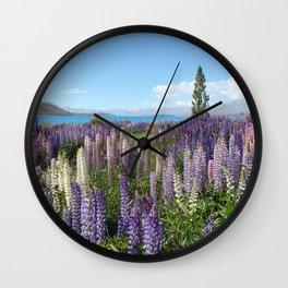 Lupine Field Wall Clock