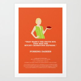 Pushing Daisies - Olive Art Print