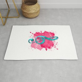 Ink Splash Treble Clef Rug