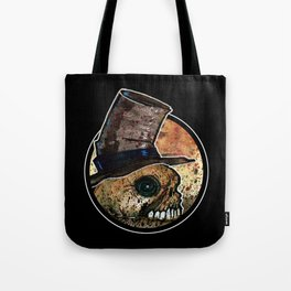 Skull in a Top Hat Tote Bag