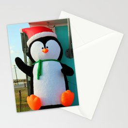 Penguin In A Santa Hat Stationery Cards