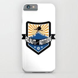 Adjust Your Altitude | Ski Series | DopeyArt iPhone Case