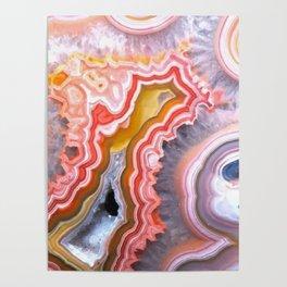 Agate Gem slice Poster