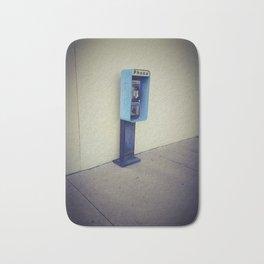 Vintage Pay Phone Photograph Bath Mat