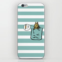 Pocket Bunny iPhone Skin