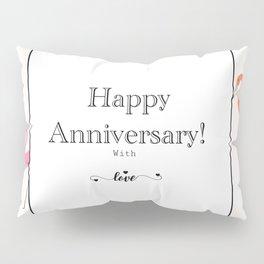 Happy Anniversary flamingo greeting Pillow Sham