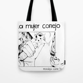 Rabbit Woman Tote Bag