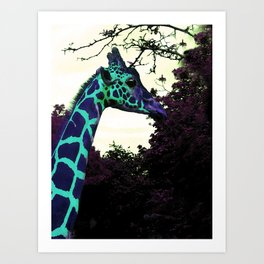 Alien Giraffe Has Landed Art Print