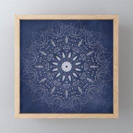Indigo Mystique Mandala Framed Mini Art Print