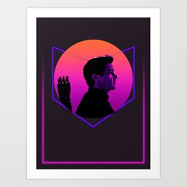 Hawk-eye 80's Alternative Character Poster Art Print