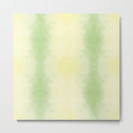 Mozaic design in soft green and yellow colors Metal Print