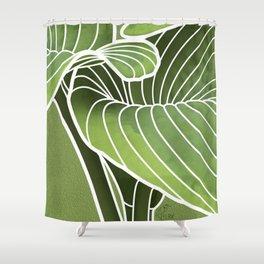 Hosta Detail Shower Curtain