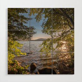 Secret Place By The Lake Wood Wall Art