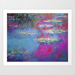 Water Lillies - Claude Monet (plastic pink) Art Print