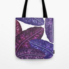Tropical Leaves - Ultra Violet 1 Tote Bag