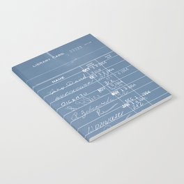 Library Card 23322 Negative Blue Notebook