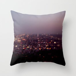 Angel City Lights, L.A. at Night (No. 2) Throw Pillow