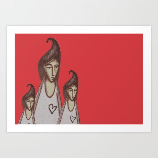 Love, Peace, YEAH! Art Print