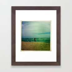 She Searches Framed Art Print