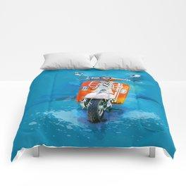 Vintage Scooter Comforters