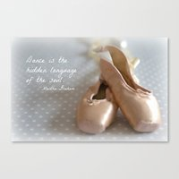 ballet Canvas Prints featuring Ballet by DuniStudioDesign