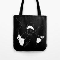 indie Tote Bags featuring Indie Bandit by Janine
