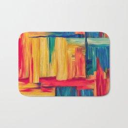Abstract colorful mosaic Bath Mat