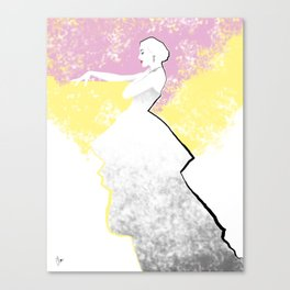 'Strawberry Lemonade' Fashion Illustration Canvas Print