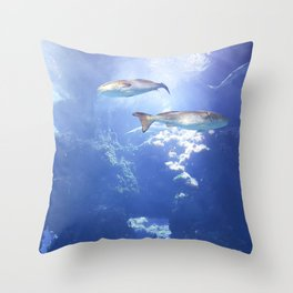 View From the Bottom Throw Pillow
