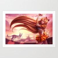 sailor venus Art Prints featuring Sailor Venus by Gladzy Kei