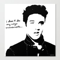 elvis Canvas Prints featuring Elvis by heyokawolf