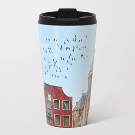 Embankments of Amsterdam. The Netherlands. Travel Mug