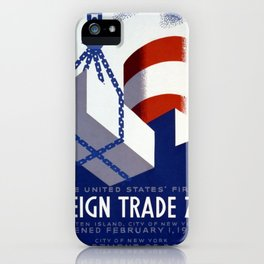 Poster for the City of New York Department of Docks iPhone Case