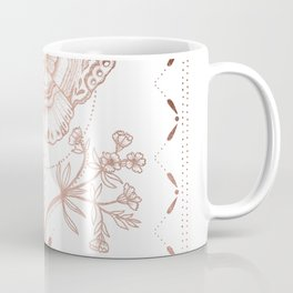 Magical Moth In Rose Gold Coffee Mug