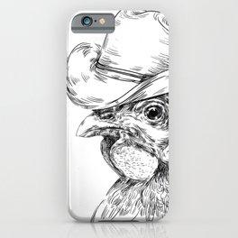 Cowboy cock iPhone Case