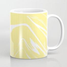 Yellow With White Liquid Paint Coffee Mug