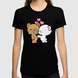 Cute Bear Happy Lovers  T-shirt