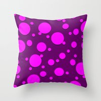 polka dots Throw Pillows featuring Polka Dots by Lyle Hatch
