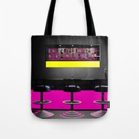 disco Tote Bags featuring Disco by Littlebell