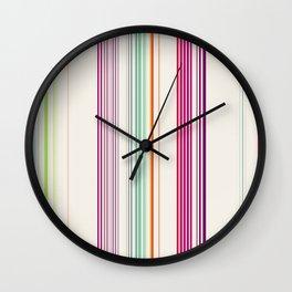 color lines Wall Clock