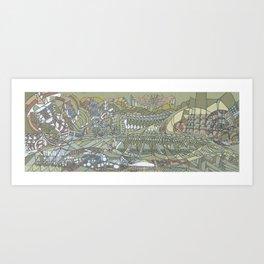 The Strait of Medina Art Print
